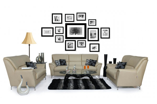 Piper Sofa Set (Beige)