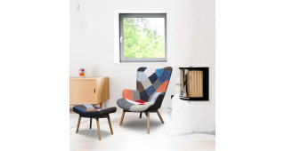 OASIS WING CHAIR WITH FOOTREST