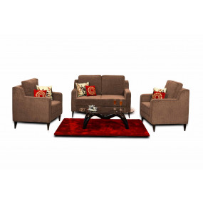 Beacon 2+1+1 Sofa Set Brown