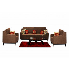 Beacon 3+1+1 Sofa Set Brown