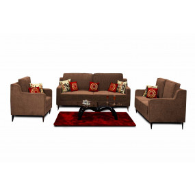 Beacon 3+2+1 Sofa Set Brown