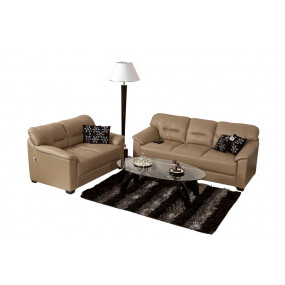 Mirly 3+2 Sofa Set Light Brown