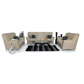 Piper 3+2+2 Sofa Set (Beige)